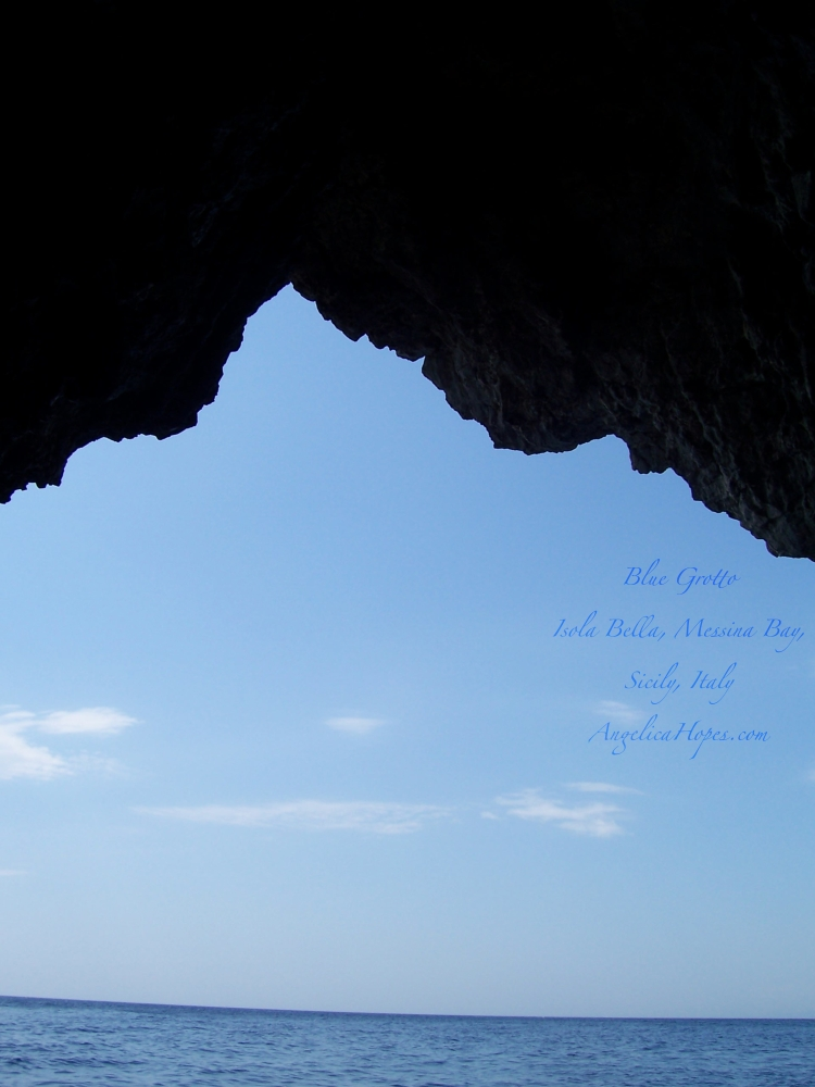 Blue Grotto, Isola Bella, Taormina, Messina Bay, Sicily, Italy