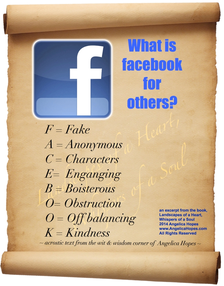acrostic fake fb LHWS